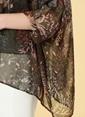 Knit&Co Tül Detaylı Bluz Haki